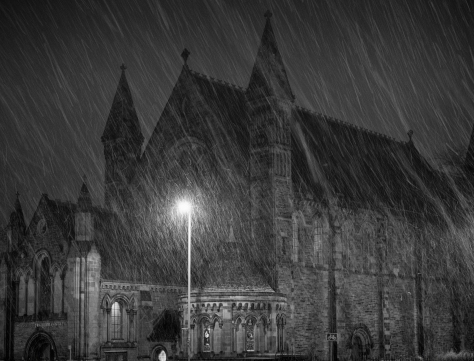 Snowy Mansfield Church. Photo by and copyright of Lynn Henni.