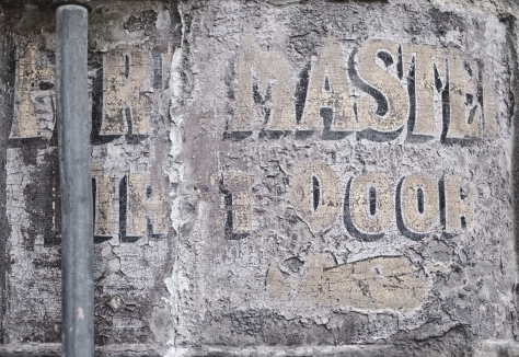 Fire Master, First Door (Ghost Sign), Leith. Photo by and copyright of Paul Henni.