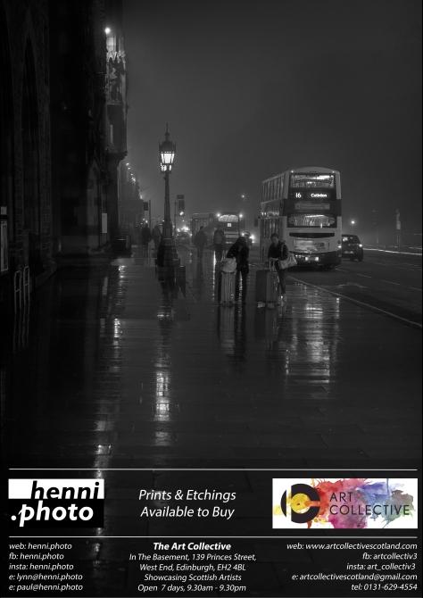 henni.photo @ The Art Collective, Princes Street, Edinburgh. Photo by and copyright of Lynn Henni.